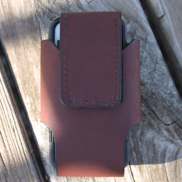 Custom Leather Cell Phone Case -- Plain Smooth Leather--No concho