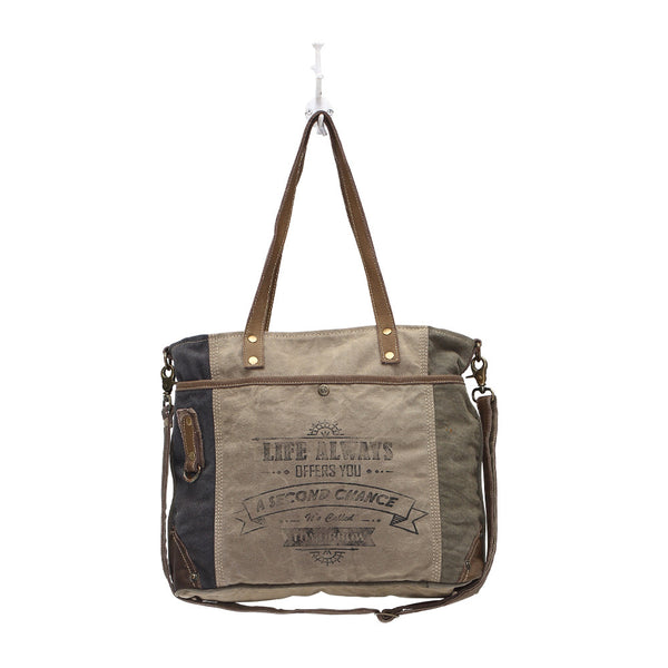 Life Always Messenger Style Shoulder Bag (S-0948)