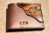 Fish Wallet, Bass fishing wallet, Initials Free!