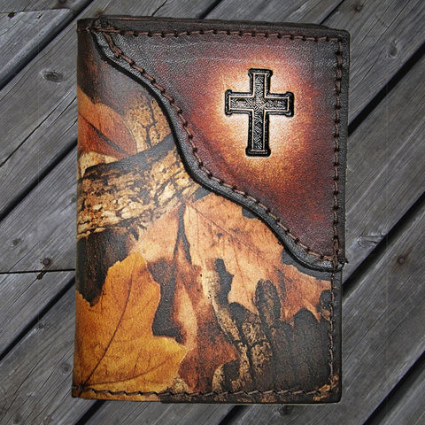 Christian Cross Camo Leather Wallet