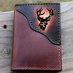 Big Buck Deer Leather Wallet