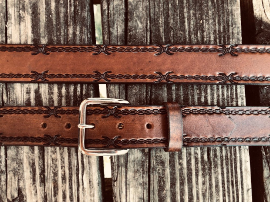 Barb Wire Leather Belt