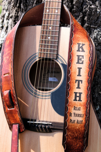 Personalized Leather Guitar Straps by Miller's Leather Shop