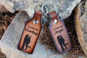 Key Chain Set- I LOVE my Cowboy-Angel