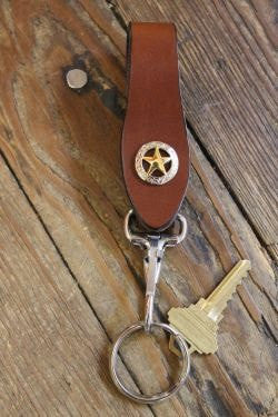 Handcrafted Leather Key Keeper with removable Key Ring --Snaps over your belt, purse strap--Initials Engraved Free!