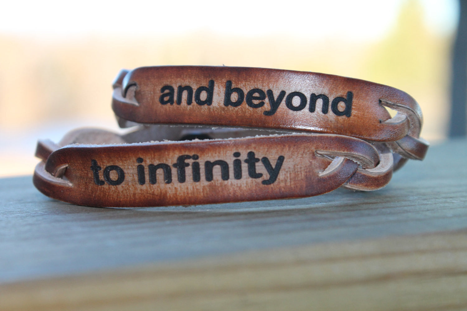 to infinity....and beyond--Couple's Bracelet Set (Both included)