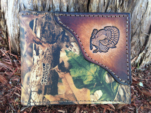 Camo Wallet, Turkey Hunter, RealTree Camo, Initials or Name is Free! Made in the USA!
