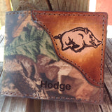 Razorback Wallet, classic bifold, RealTree Camo, Hog wallet, Initials or Name Free!