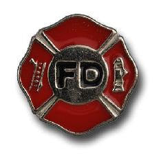 Set of 6 FIRE DEPARTMENT Conchos with caps --Rivet Back