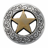Set of 6 Western Star Conchos--Screw Back