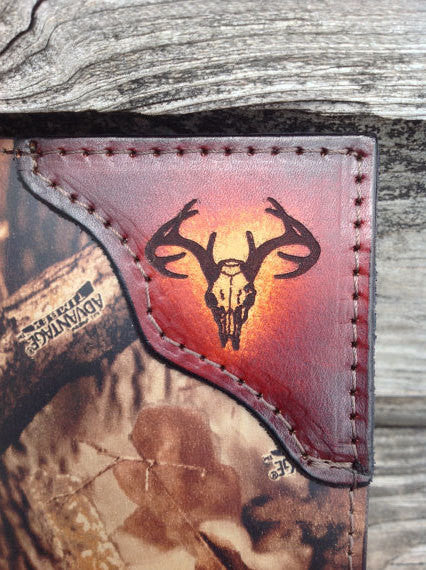 Bone Collector Wallet Realtree Camo Leather Initials