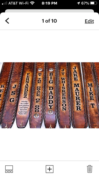 Guitar Straps by Miller's Leather Shop