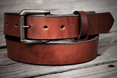 Handcrafted Leather Belt in Smooth Leather