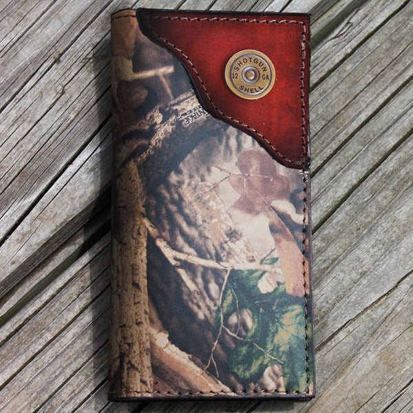 Shotgun Shell Camo Leather Wallet