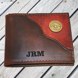 Brown Shotgun Shell Leather Wallet