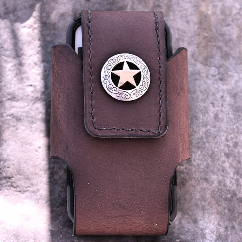Custom Cell Phone Case with Western Star Concho