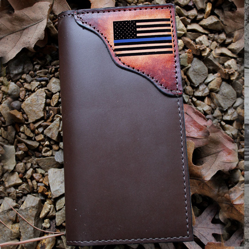 Thin Blue Line Checkbook Roper Wallet
