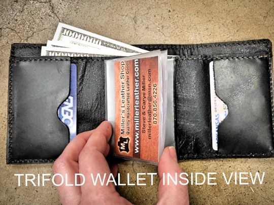 Lineman Trifold Leather Wallet