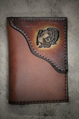 Turkey Tri-Fold Wallet, turkey hunter wallet, Initials or Name Engraved Free!