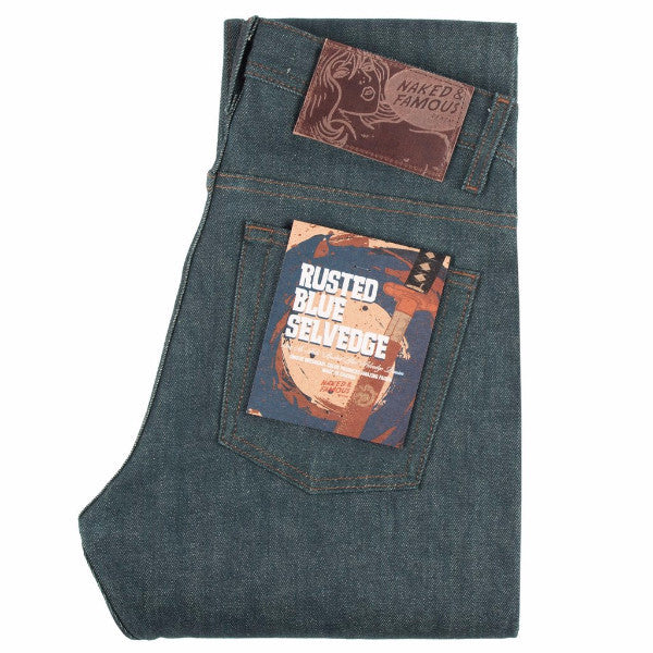 Naked & Famous: Super Skinny - Rusted Blue Selvedge