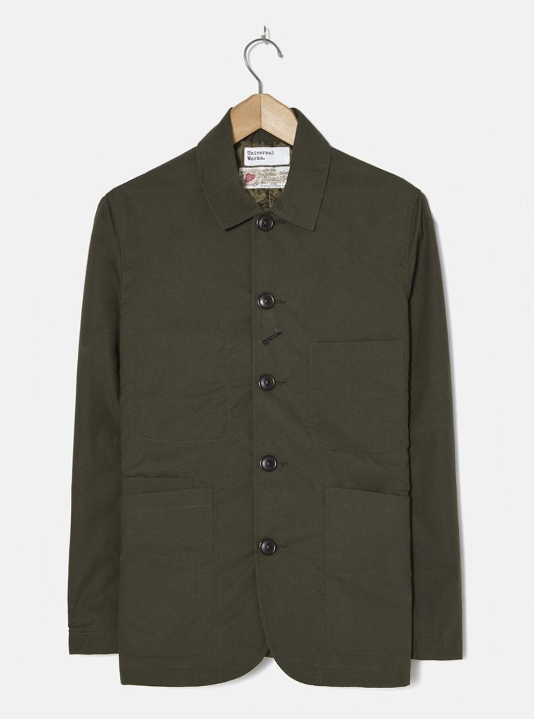 Universal Works Mill Wax Bakers Jacket -olive