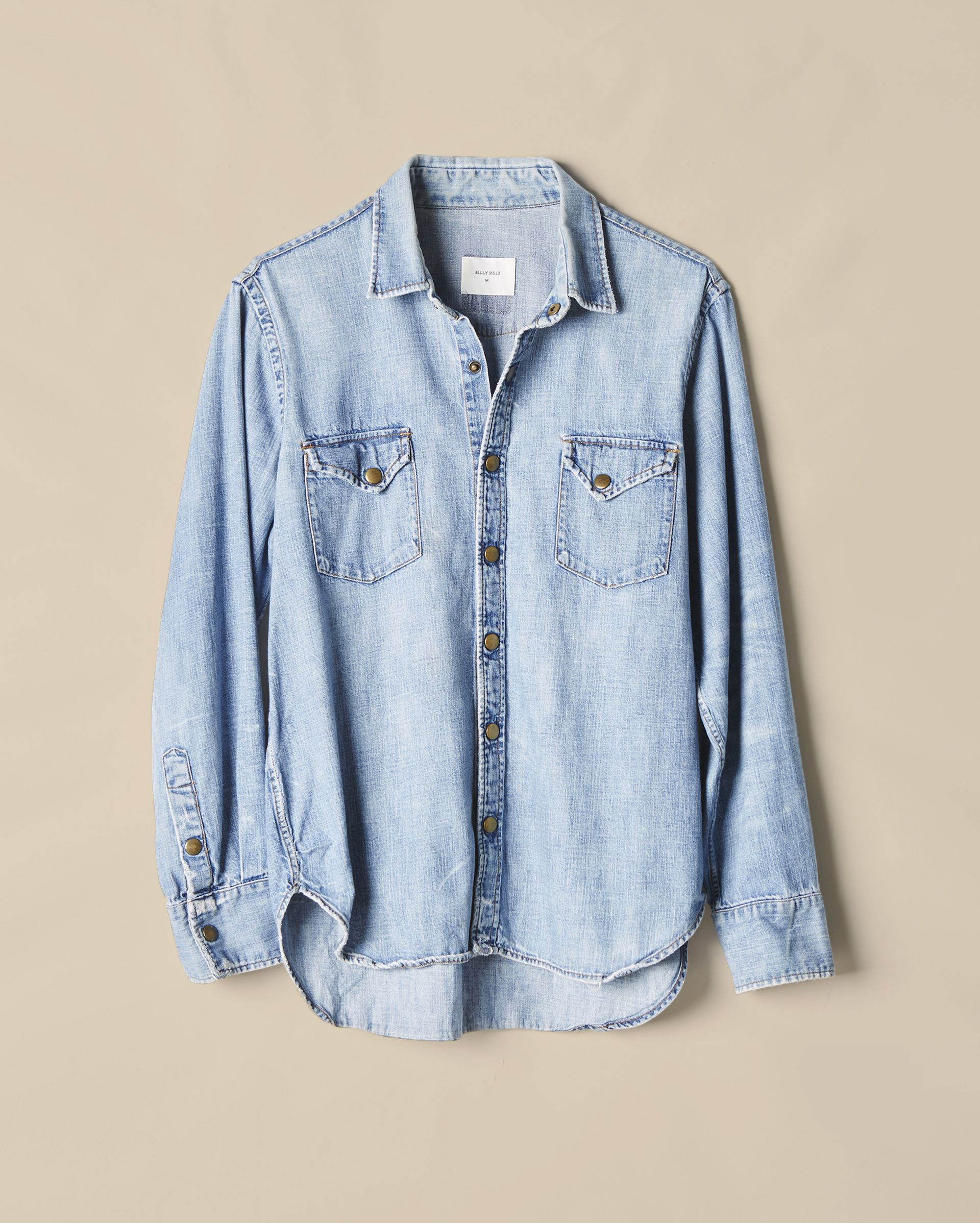 Billy Reid - Distressed Shirt - Denim Wash