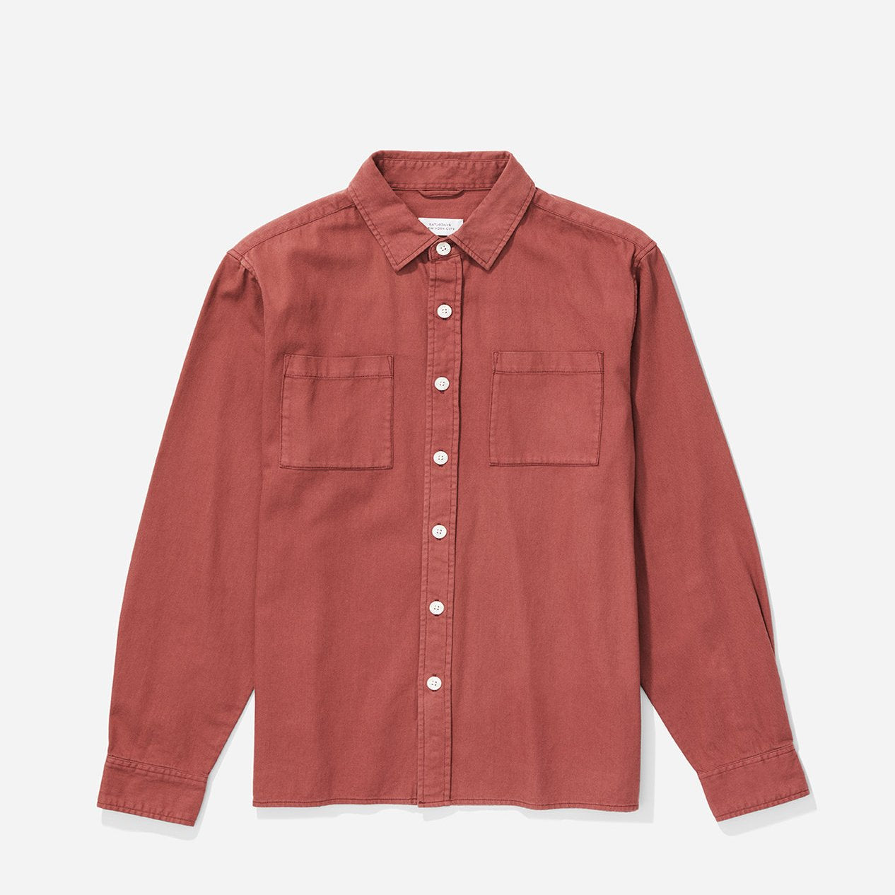 Saturdays Nolan Washed Denim Shirt -Light Plum