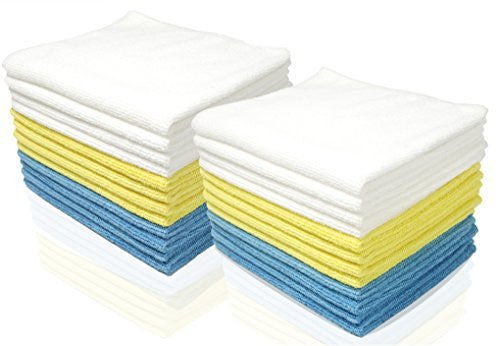 Royal Microfiber Cleaning Washcloths - 48 Pack Towels - 12 x 16 inches - Highly Absorbent, Ultra Soft and Reusable - Lint Free and Streak Free