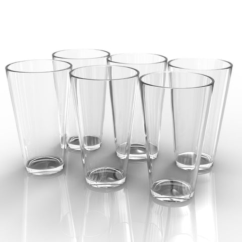 Royal Beer Glass Set - 6 Pack - Holds a full Bottle of Beer up to 16-ounces