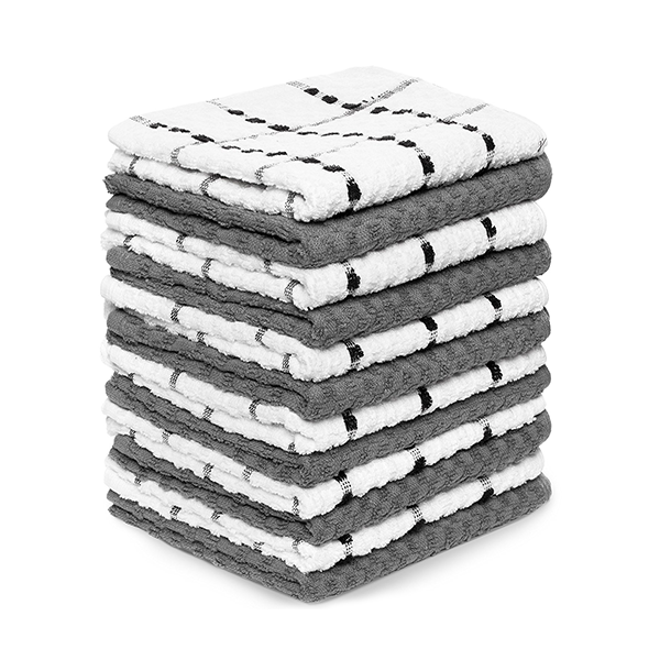 Zeppoli Kitchen Towels - 100% Cotton (12 Pack)