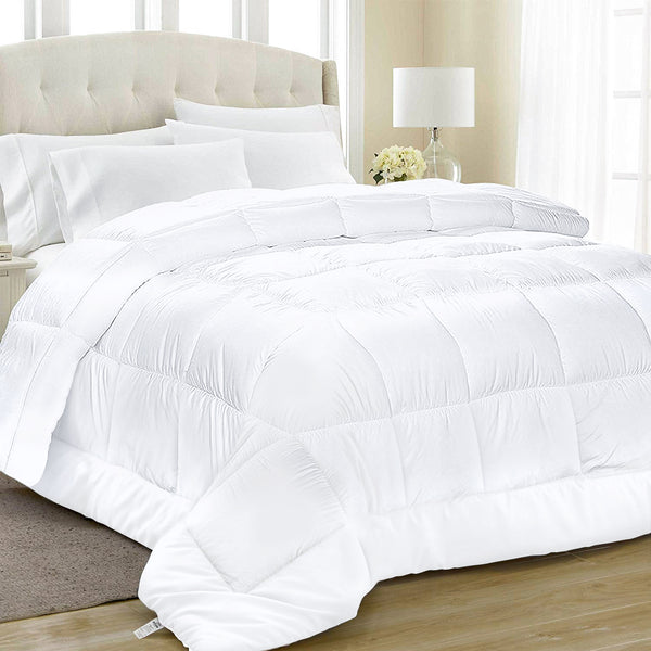 Equinox All-Season Quilted Comforter - Goose Down Alternative - Reversible Duvet Insert Set - Machine Washable - Hypoallergenic