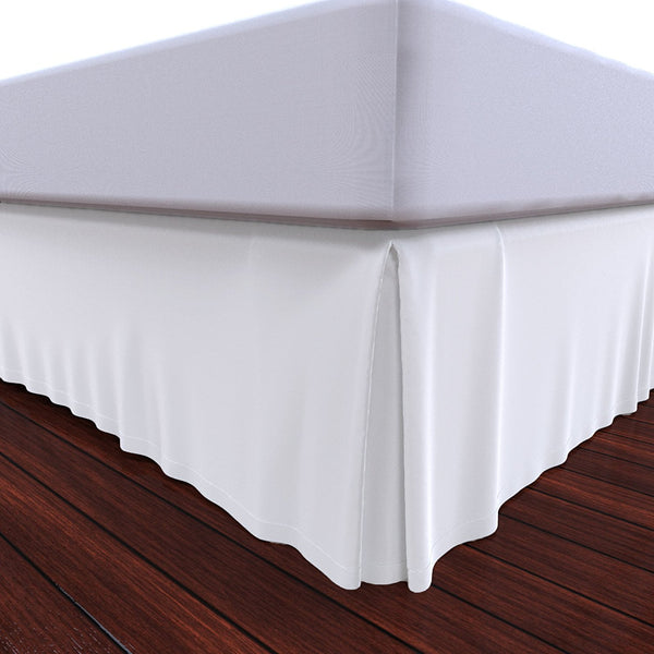 Bed Skirt by Royal - 100% Natural Cotton - Luxurious 4 Side Pleated Skirt that is Durable and Easy to Wash
