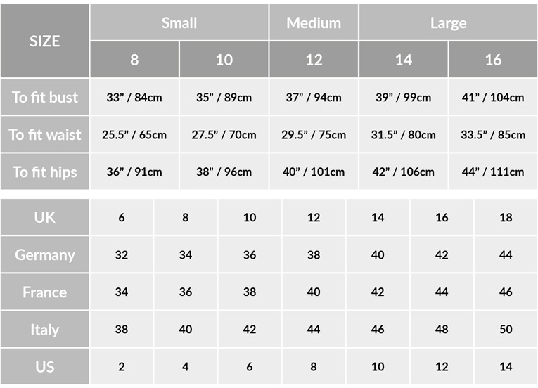 People Tree Size Guide