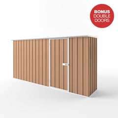 Flat Roof Garden Shed - 3.75m x 0.78m x 2.12m Height - Wide Span Sheds