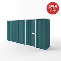 Flat Roof Garden Shed in Torres Blue