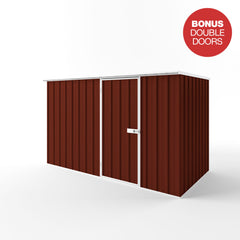 Flat Roof Garden Shed in Heritage Red