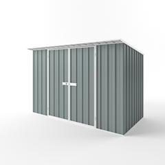 Skillion Roof Garden Shed in Armour Grey
