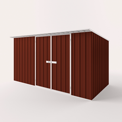 Skillion Roof Garden Shed in Heritage Red
