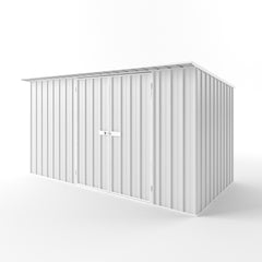 Skillion Roof Garden Shed in Off White
