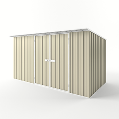 Skillion Roof Garden Shed in Smooth Cream