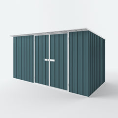 Skillion Roof Garden Shed in Torres Blue