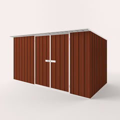 Skillion Roof Garden Shed in Tuscan Red