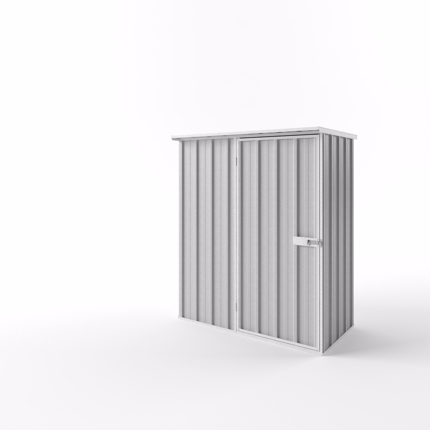 Flat Roof Garden Shed - 1.50m x 0.78m x 2.12m Height - Wide Span Sheds