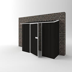 Off The Wall Garden Shed in Ebony