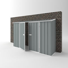 Off The Wall Garden Shed in Armour Grey