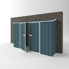 Orr The Wall Garden Shed in Torres Blue
