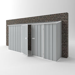 Off The Wall Garden Shed in Gull Grey
