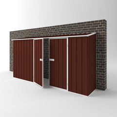 Off The Wall Garden Shed in Heritage Red