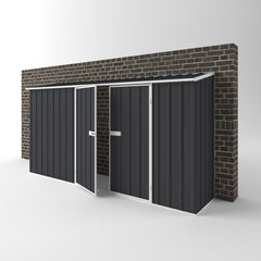 Off The Wall Garden Shed in Iron Grey
