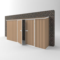 Off the Wall Shed - 3.75m x 0.78m x 1.95m Height - Wide Span Sheds